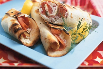 Weber Recipe BBQ Demo - Grilled Smoked Salmon Wraps